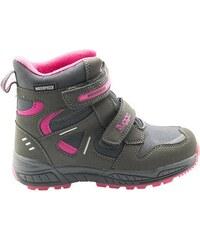 e05b34733a28 Bugga Dívčí zimní boty - šedo-růžová