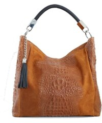 74a7a6f872 TALIANSKE Talianska shopperka kožená kabelka veľká na plece a do ruky hnedá  Alessa