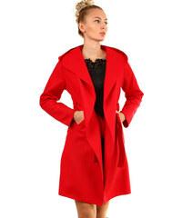TopMode Dámský fleecový kabátek s kapucí (červená afd7f783042