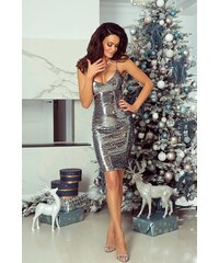 0def1b018d4 Ewomen Šaty Monica stříbrné