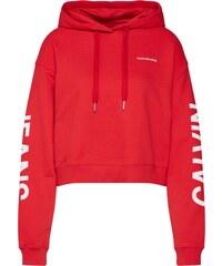 Calvin Klein Jeans Mikina červená b391fa4b51