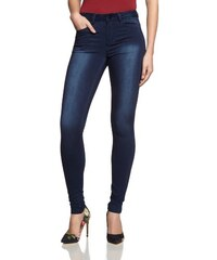PIECES Damen Hose 17053344 JUST JUTE WASHED R.M.W DARK BLUE