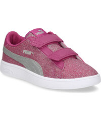 Puma Ružové detské tenisky na suchý zips 09490f8d496