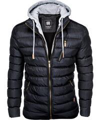 Ombre Clothing Pánská prošívaná bunda Marlon černá 20684794d8f
