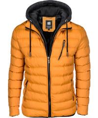 Ombre Clothing Pánska prešívaná bunda Marlon žltá 6881a61a272