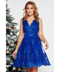 Kék StarShinerS alkalmi harang ruha csipkés anyagból belső béléssel feec150a66