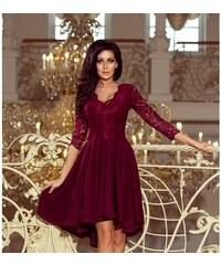 Luxusní dámské šaty Elegance bordó NUMOCO 210-1-1XL deb242a637