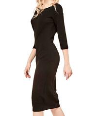 5320a90ead40 Malé černé šaty s tříčtvrtečním rukávem