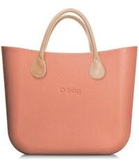 O bag kabelka MINI Phard s krátkými koženkovými držadly natural fef070457d4