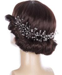 2c5f303f884 Fashion Icon Svatební ozdoba do vlasů - čelenka Wedding day větvička  krystalky