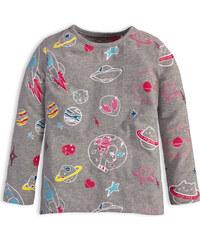 Dievčenské tričko s dlhým rukávom KNOT SO BAD UFO šedé e596ac273b8