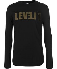 Tričko Level 1 Destruct Long Sleeve T Shirt Mens f8641f3873b