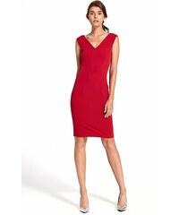 1ba888c76ce5 Nife Puzdrové šaty s výstrihom na chrbte - červené