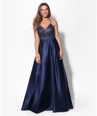EVA   LOLA Společenské plesové šaty JULIA tmavě modré 6dd62a4f96