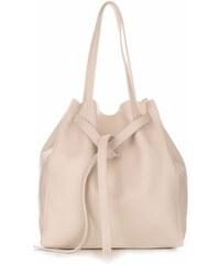 e51520534f Genuine Leather Kožené kabelky ShopperBag s kosmetickou béžová