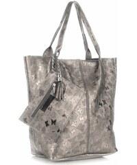 c5befc7ffd Genuine Leather Kožené kabelky Shopper bag Lakované staré zlato