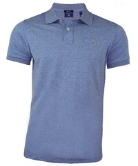 7e8ee5ab59b Gant Pánské melírované modré polo triko Gant