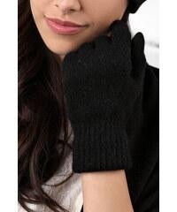 Čierne dámske rukavice na zimu Kamea 01 dcdddf5f3c