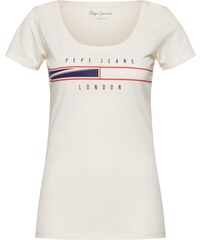 Bílé dámská trička s výstřihem do v  1f75e01124