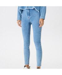 House - Džíny high waist skinny - Modrá 088be51eaa