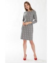 bf06ddb78b26 Padnoucí úpletové šaty s kostkovaným motivem Greenpoint SUK546B18CHE58