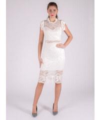 Moda Elegantné čipkované biele šaty 7624d1c785
