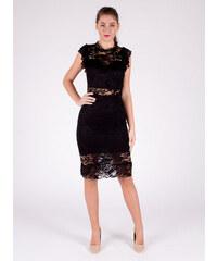 9537dfe6e146 Moda Elegantné čipkované čierne šaty
