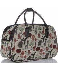 14d11d9e42 MALÁ cestovní taška kufřík Or Mi Zoo Multicolor - béžová