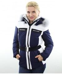 1ab237a3701c Luhta Dámská zimní bunda Luhta BENITA L6 PURPLE   WHITE s kožešinovým lemem  - liška safír