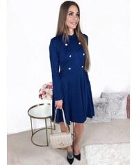 29e824b95a0 ZAZZA Koktejlové šaty s dlhým rukávom v modrej