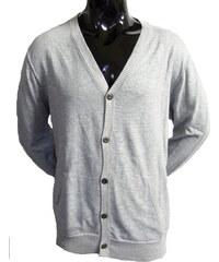 Levi Strauss Pánský svetr Levi s šedý na knoflíky xl fb00fe37a5