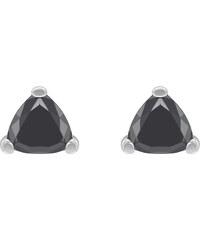 Eppi Zlaté náušnice s černými trillion diamanty Vock 08065c1be58