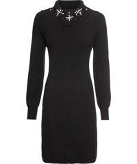 bonprix Pletené šaty s aplikací 76657a6e15
