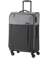 Travelite NEOPAK M antracit négykerekű bővíthető közepes bőrönd 7c82bbd80d