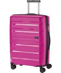 Travelite KOSMOS M pink négykerekű bővíthető ütésálló közepes bőrönd c03a084235