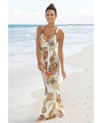 4c115d02b4b4 LASCANA Dlouhé šaty s dekorativním spirálám na ramínkách bílá-pestrá s  potiskem