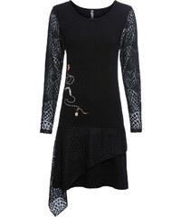 Bonprix Pletené šaty s volánmi 514cebc3ee