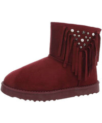 FashionFrey Dámské klasické kotníkové boty - víno a9527036a3