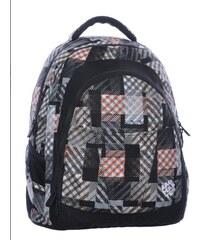 Studentský batoh DIGITAL 0215 C BLACK BROWN WHITE poslední kus z prodejny 52753b8a89