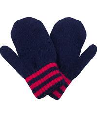fda6f99f0ff Zimní rukavice - palčáky Pletex 10978 Tmavě modré s červeným proužkem