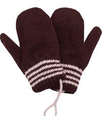 06bbb6ef8c7 Zimní rukavice - palčáky Pletex 10977 Tmavě hnědé s proužky