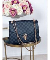 7546c8ff3ca8 ZAZZA Elegantná čierna kabelka so vzorom