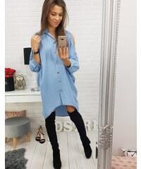 BASIC Svetlo modré košeľové šaty (dy0164) 057064fdf2