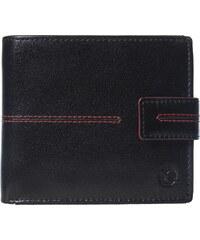 dec17ec3f6f Pánská kožená peněženka Segali SG-150721 černá s červeným prošíváním