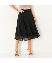80ddeca7d77 Blancheporte Volánová jednobarevná sukně černá