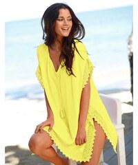Blancheporte Plážové macramé tunika žlutá 48b68b1505