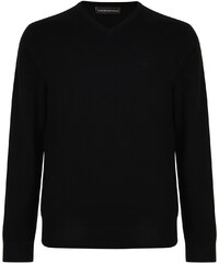 Emporio Armani V Neck Logo Knitted Jumper 99ab7fef73