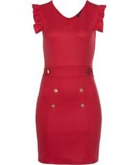 Koktejlové šaty s třpytivým živůtkem - červené - Glami.cz 30bbcd49de2