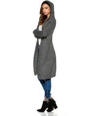 d6f3d940e451 Lemoniade Dámsky sveter s kapucou LS213 tmavosivý
