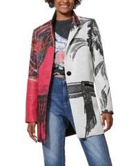 Desigual barevný kabát Abrig Sebastian - 36 fee92da02fc